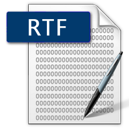 ikona súboru vo formáte RTF
